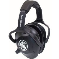 Silencio Black Active Electronic Earmuffs w/Smith & Wesson Logo 3011982