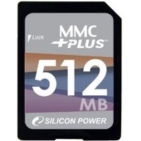 Silicon Power MMC Plus Card 4.0 512MB Memory Card SP512MBMMP100V10