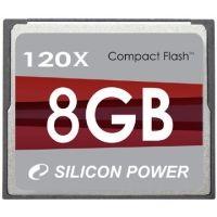 Silicon Power Compact Flash 120X Hi-Speed Memory Card SP002GBCFC120V10