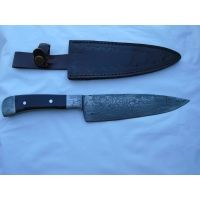 Titan Kitchen Knife Bolster Damascus Handle Knife TDK 57