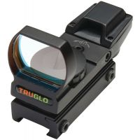 TruGlo Open Red-Dot Sight Red/Green Illuminated Multi-Reticle Matte Black TG8360B
