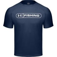 UnderArmour Men's HeatGear Fishing Graphic T - Monsoon Color 1004007-418