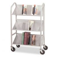 United Stationers Cart 3 Shelf Sloped Slv BDY54143