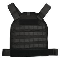 US Palm MOLLE Defender Soft Armor Plate Carrier With One Level IIIA Soft Armor Panel Large/Standard 10x12.5 Inch Panel Black USP00400206