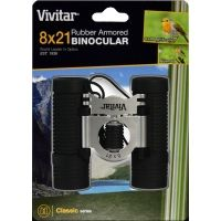 Vivitar Classic Series 8x21 Rubberized Binoculars with Case and Strap