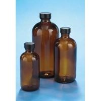 VWR Boston Round Bottles, Amber, Narrow Mouth VW5123233C24 Bulk Packs With Unattached Caps In Bags