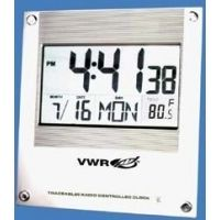 VWR Digital Radio Atomic Clock 1076