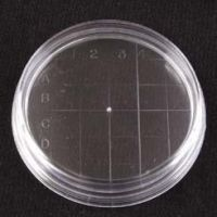 VWR Petri Dishes, Contact Plate, Sterile 3577 Convex Bottom, Outside Grid, Augmented