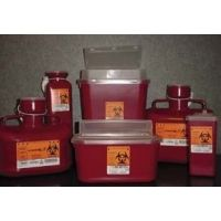 VWR Sharps Container Systems 8707TYV Stackable Sharps Containers Large, Tortuous Path