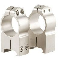 Warne Extra High Maxima Scope Rings w/Silver Finish 203S