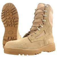 Wellco T161 Tan Hot Weather Combat Boots w/ Steel Toe