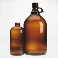 Wheaton Safety-Coated Bottles, Amber, Narrow Mouth, Wheaton 220949 Bottles With PE-lined Cap