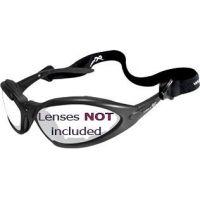 Wiley-X JP 1 Sunglasses Matte Black Frame 500F w/ Gasket & Strap Only, No Lens