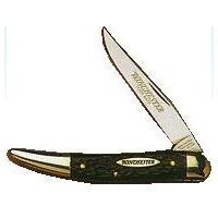 Winchester Knives 3.5in Toothpick w/ Black Jigged Delrin Handle