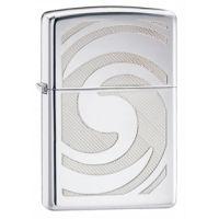 Zippo 3D Abstract Classic Style Lighter, High Polish Chrome