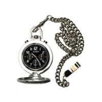 Zippo Dress Classic Style Pocket Watch, Black Dial & Stainless Steel Chain & Buckle
