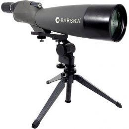 Green Lens BARSKA Blackhawk 18-36x50 Straight Spotting Scope with Tripod and Case