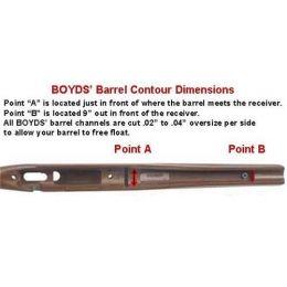 Boyds Hardwood Gunstocks Pro Varmint CZ 452 2E American Bolt Short Action  Clip Rifle Stock