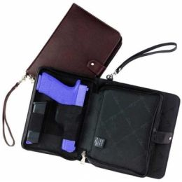 Galco Hidden Agenda Concealed Leather Handgun Carrying Case/Holster w/ Day  Planner