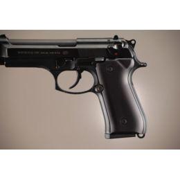 Hogue Beretta 92 Handgun Grip Aluminum - Brushed Gloss Black