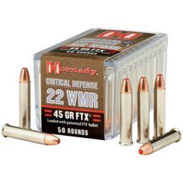 Hornady Ammo 22 Wmr 45gr Ftx Cd/50 83200