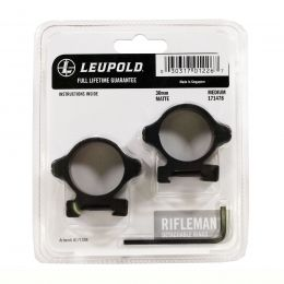 NEW Leupold Rifleman 30mm Detachable Rings Med Matte 171478