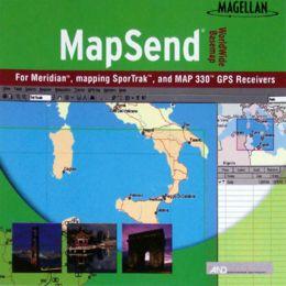 Magellan Mapsend Worldwide Basemap Mapping Software For Map 330 GPS NEW
