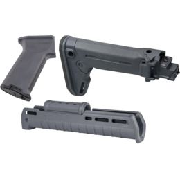 Magpul AK-47 Zhukov M-LOK Polymer Furniture Set, Grey — Included  Accessories: Magpul Industries Zhukov Extended Handguard, Grip and Folding