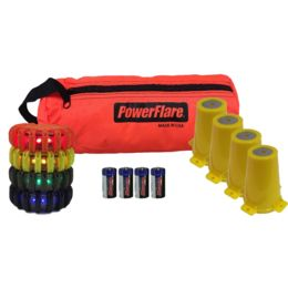 4-Position Cone Adapter Kit with 4-Pack Soft Pack of PowerFlare Lights