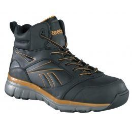 Reebok Men/'s Work Boots Black Hitop Athletic Mid Cut Alloy Toe