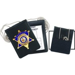 Blackinton B-1125 Badge Recessed Cut-Out /& ID Card Neck Holder with Chain