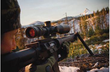 Rifle Scope Mounted on an AR 15 Platform Rifle