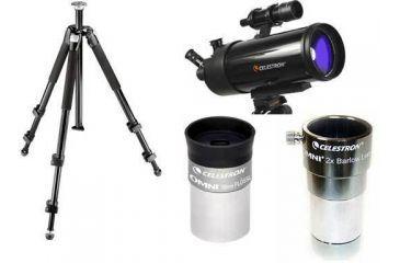 4-PC Day / Nighttime Astronomical Observation Gift Kit - Celestron C130 Mak Spotting Scope, Celestron Tripod, Barlow Lens, Eyepiece