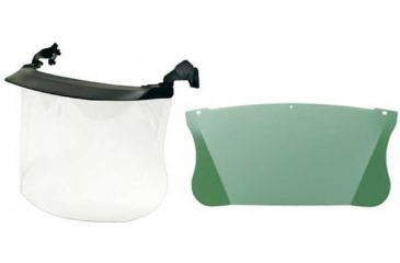 3M Peltor Clear Polycarbonate Multi Visor System and Peltor Replacement Visor Green Polycarbonate