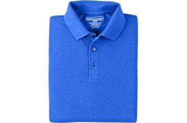 5.11 Tactical 42056 Professional Polo, Long Sleeve - Academy Blue, Small