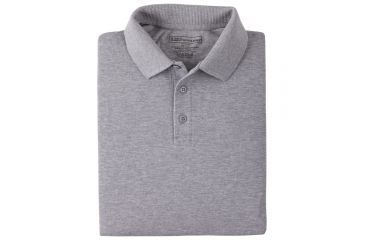 5.11 Professional Polo, Long Sleeve 42056, Shirt Style: Polo, Color: Heather Gray, Sleeve Type: Long Sleeve