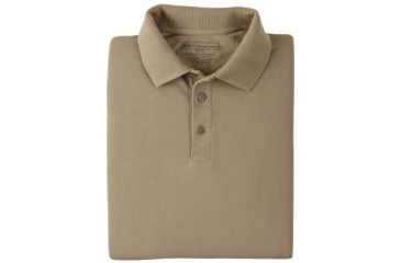5.11 Tactical 42056 Professional Polo, Long Sleeve - Silver Tan, Extra Small