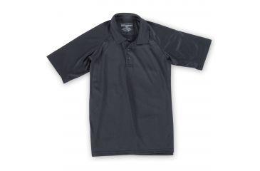 5.11 Tactical Men's Performance Polo Shirt, Short Sleeve, Polyester Synthetic Knit, Black, 5XL 71049T-19-5XL