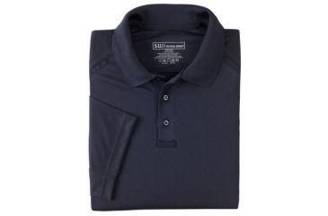 5.11 Tactical Men's Performance Polo Shirt, Short Sleeve, Polyester Synthetic Knit, Dark Navy, 2XL 71049T-724-XXL
