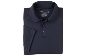 5.11 Tactical Men's Performance Polo Shirt, Short Sleeve, Polyester Synthetic Knit, Dark Navy, XL 71049T-724-XL