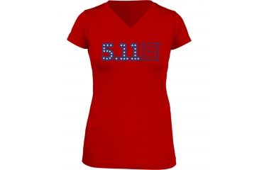 5.11 Tactical Miss Independence T-Shirt, Red, M 31004AG-460-M