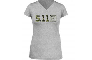 5.11 Tactical Women's Urban Assault T-Shirt, Heather Grey, XL 31004AI-16-XL
