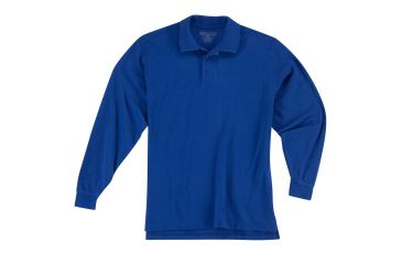 5.11 Tactical 42056 Professional Polo, Long Sleeve - Academy Blue, Extra Small