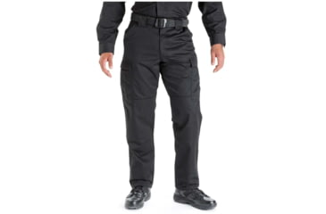 5.11 Tactical 74004 TDU Poly/Cotton Twill Pants, Black, Extra Large, Long