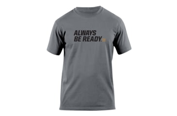 5.11 Tactical Always Be Ready Logo T Shirt - Charcoal - L 41006AZ-018-L