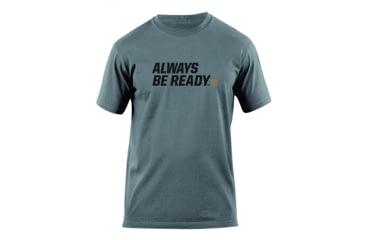 5.11 Tactical Always Be Ready Logo T Shirt - Charcoal - M 41006AZ-018-M