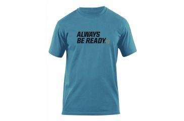 5.11 Tactical Always Be Ready Logo T Shirt - Mineral Blue - M 41006AZ-766-M