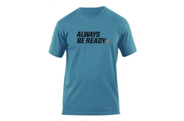 5.11 Tactical Always Be Ready Logo T Shirt - Mineral Blue - XL 41006AZ-766-XL