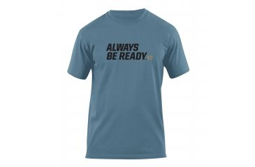 5.11 Tactical Always Be Ready Logo T Shirt - Mineral Blue - XXL 41006AZ-766-XXL