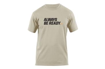 5.11 Tactical Always Be Ready Logo T Shirt - Tan - L 41006AZ-170-L